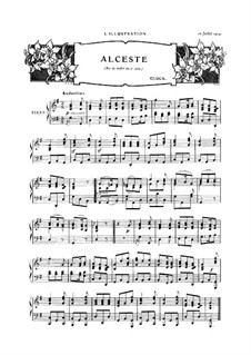 Alceste, Wq.44: Act II, Air de ballet, for piano by Christoph Willibald Gluck