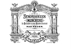 Four Symphonies: Arrangement for piano four hands by Carl Philipp Emanuel Bach