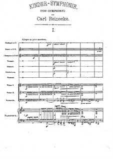 Toy-Symphony, Op.239: Movement I by Carl Reinecke