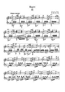 Regret, for Piano: Regret, for Piano by Rentarō Taki