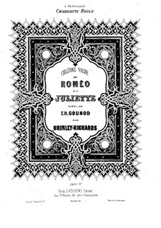 Romeo et Juliette (Romeo and Juliet): Waltz, for Piano by Charles Gounod