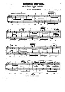 Six Pieces for Piano, Op.15: No.1 Serenade (concert version) by Moritz Moszkowski