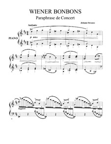Concert Paraphrase on 'Viennese Sweets' by J. Strauss: For piano by Julie Rivé-King