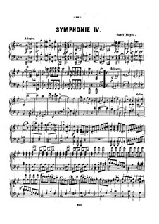 Symphony No.98 in B Flat Major, Hob.I/98: Version for piano by Joseph Haydn