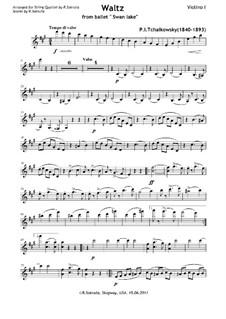 No.2 Waltz: For string quartet by Pyotr Tchaikovsky