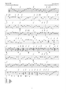 Neue Lautenfrüchte: Suite Nr.1 in Bb by Esaias Reusner