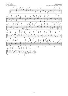 Neue Lautenfrüchte: Suite Nr.11 in Cm by Esaias Reusner