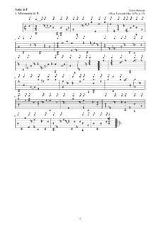 Neue Lautenfrüchte: Suite Nr.13 in F by Esaias Reusner