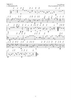 Neue Lautenfrüchte: Suite Nr.25 in A by Esaias Reusner