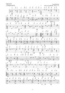 Neue Lautenfrüchte: Suite Nr.27 in D by Esaias Reusner
