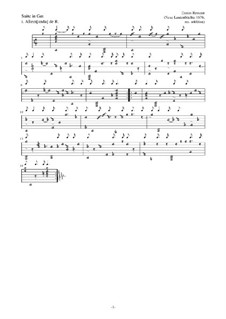 Neue Lautenfrüchte: Suite in Gm by Esaias Reusner