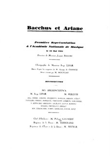 Bacchus et Ariane (Ballet), Op.43: Version for piano by Albert Roussel