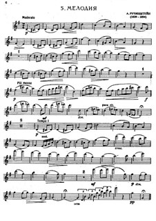 Two Melodies, Op.3: Melody No.1, for flute and piano – flute part by Anton Rubinstein