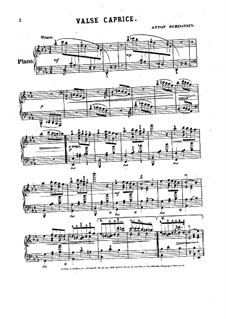 Waltz-Caprice in E Flat Major: For piano by Anton Rubinstein