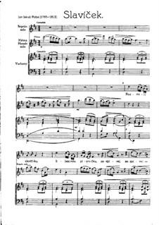 Slavíček for Voice, Flute (or Violin) and Organ: Slavíček for Voice, Flute (or Violin) and Organ by Jakub Jan Ryba