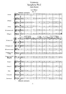 Symphony No.2 in C Minor 'Little Russian', TH 25 Op.17: Full score by Pyotr Tchaikovsky