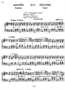 No.12 December (Christmas): For piano by Pyotr Tchaikovsky