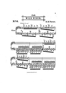 Six Concert Etudes: No.6 Wild Rider by Alfred Dudley Turner