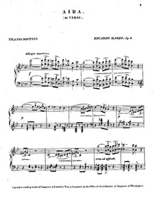 Transcription on Theme from 'Aida' by G. Verdi, Op.9: Transcription on Theme from 'Aida' by G. Verdi by Eduardo Marzo