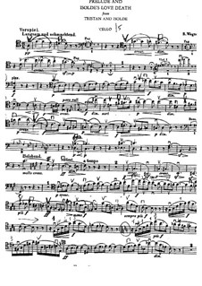 Isolde's Love Death: Cello part by Richard Wagner