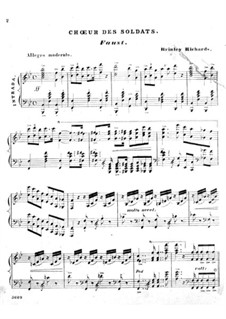 Transcription of Popular Melodies: Chorus of the Soldiers from 'Faust' by Brinley Richards