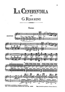 La Cenerentola (Cinderella): For soloists, choir and piano by Gioacchino Rossini