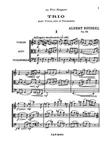 String Trio, Op.58: String Trio by Albert Roussel