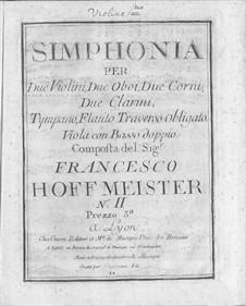 Simphony No.2 in C Major: Simphony No.2 in C Major by Franz Anton Hoffmeister