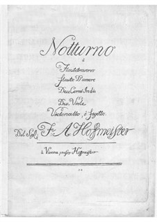 Nocturne for Flute and Orchestra: Nocturne for Flute and Orchestra by Franz Anton Hoffmeister