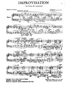 Three Pieces, Op.31: No.1 Impromptu by Nikolai Medtner