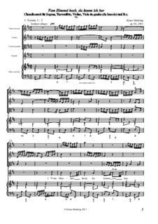 Vom Himmel hoch, da komm ich her, Op.86: Full score by Klaus Miehling