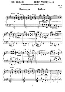 Two Pieces for Piano, Op.24: For a single performer by Anatoly Lyadov