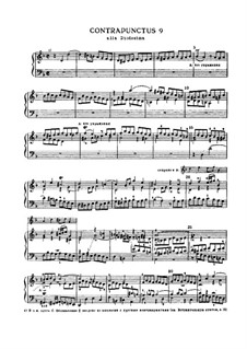 The Art of Fugue, BWV 1080: No.9 by Johann Sebastian Bach