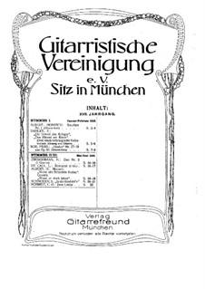 Gitarristische Vereinigung. Jahrgang XVII, Nr.2-3: Gitarristische Vereinigung. Jahrgang XVII, Nr.2-3 by Leonhard von Call, H. Zimmermann, Heinrich Albert