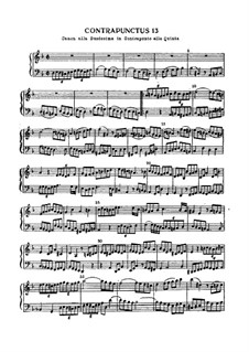 The Art of Fugue, BWV 1080: No.13 by Johann Sebastian Bach