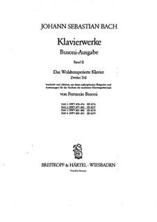 Selected Pieces: For piano, BWV 877-882 by Johann Sebastian Bach