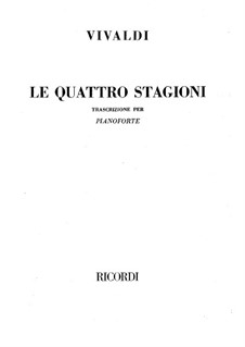 Le quattro stagioni (The Four Seasons): Complete set, RV 269, 315, 293, 297 by Antonio Vivaldi