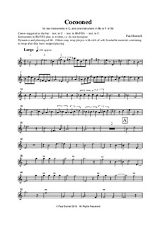 Cocooned, for two instruments in C, and one instrument in Bb or F or Eb: Cocooned, for two instruments in C, and one instrument in Bb or F or Eb by Paul Burnell