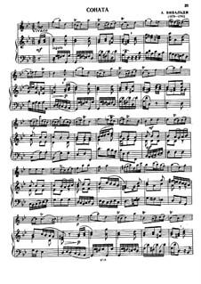 Sonata for Flute and Basso Continuo in G Minor: Score by Antonio Vivaldi