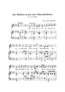 Six Songs, Op.71: Nr.3 Das Mädchen an das erste Schneeglöckchen, J.267 by Carl Maria von Weber