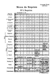 Messa da Requiem: Full score by Giuseppe Verdi