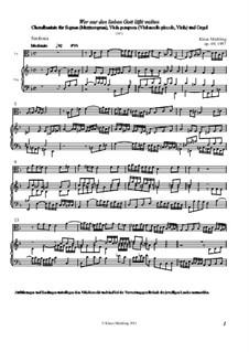 Wer nur den lieben Gott läßt walten, Op.69: Wer nur den lieben Gott läßt walten by Klaus Miehling