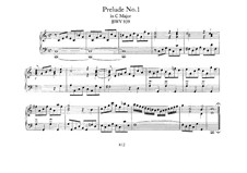 Five Preludes, BWV 939-943: For organ by Johann Sebastian Bach