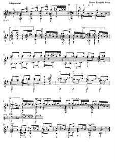 Tombeau sur la mort de M. Cajetan Baron d'Hartig: For guitar by Silvius Leopold Weiss