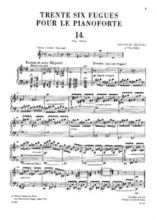 Thirty-Six Fugues, Op.36: No.14-16 by Anton Reicha