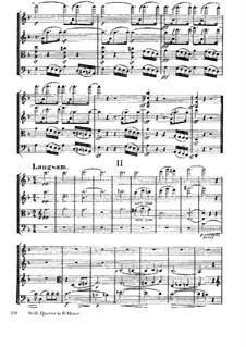 String Quartet 'Entbehren sollst du, sollst entbehren': Movement II by Hugo Wolf