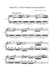 Sonata for Piano No.10 in C Major, K.330: High quality sheet music by Wolfgang Amadeus Mozart