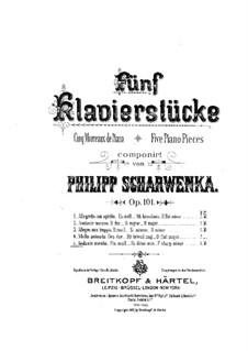 Five Piano Pieces, Op.101: No.5 Andante mesto by Philipp Scharwenka