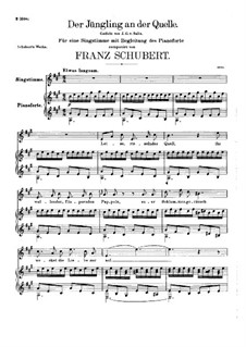 The Youth by the Spring, D.300: A Major by Franz Schubert