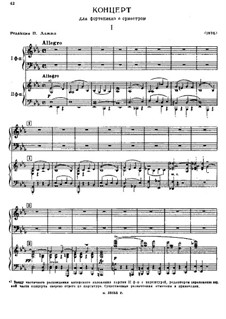 Piano Concerto in E Flat Major: For two pianos four hands by Sergei Taneyev